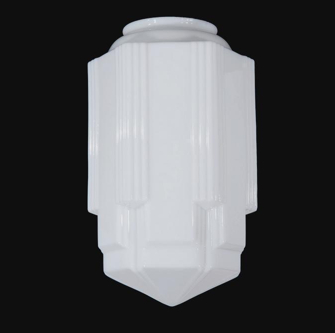 Art Deco Lighting Glass Light Shade Lamp 6 x 16 5 Skyscraper Pendant New