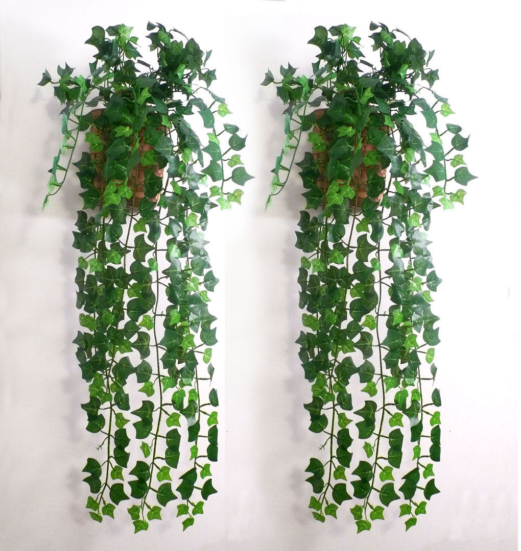 Artificial ivy leaf garland plants vine fake for Artificial grape vines decoration