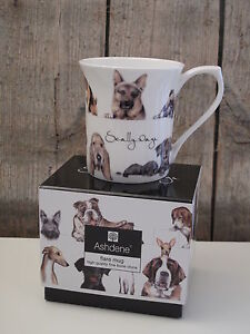 ashdene becher tasse scally wags hunde fine bone china porzellan ebay. Black Bedroom Furniture Sets. Home Design Ideas