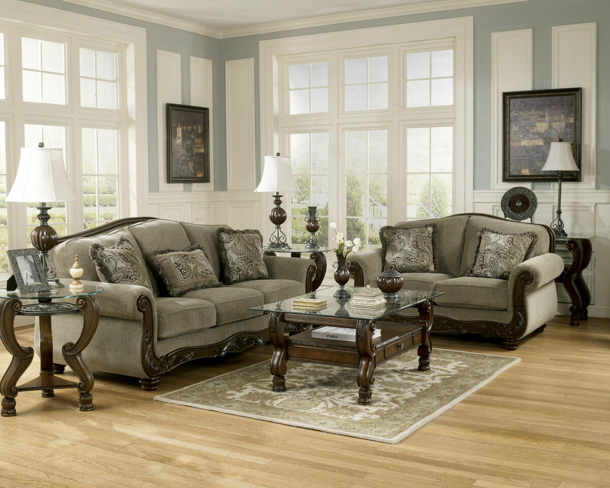 Ashley furniture living room groups 2017 2018 best for Traditional living room furniture