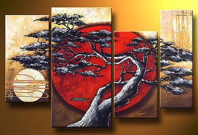 Asian style Modern Abstract Huge Art Oil Painting Canvas Large Tree + free gift in Art, Direct from the Artist, Paintings | eBay