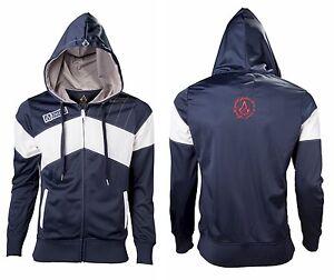 assassin 39 s creed unity hoodie kapuzenpullover blau. Black Bedroom Furniture Sets. Home Design Ideas