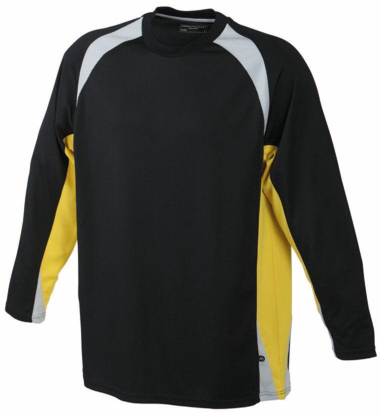 Atmungsaktives langarm Torwartshirt T-Shirt für Kinder James /& Nicholson jn367k