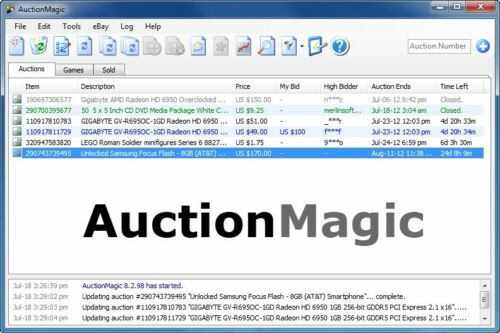 AuctionMagic! Most Powerful Sniping/Bidding Software on eBay - snipe bid tools in Everything Else, eBay User Tools | eBay