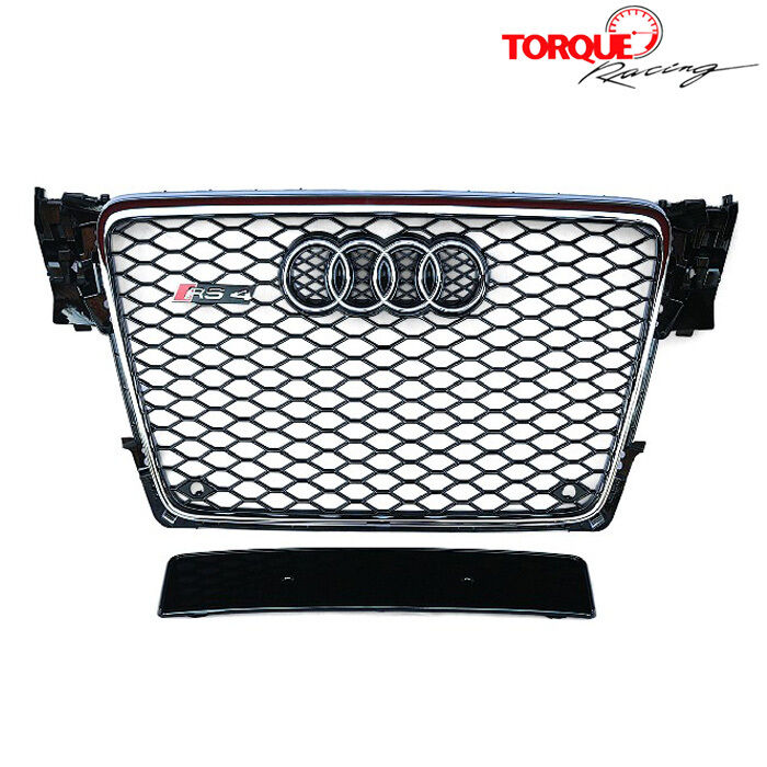 RS4 Style Front Chrome Grille Facelift Mesh For Audi A4 S4