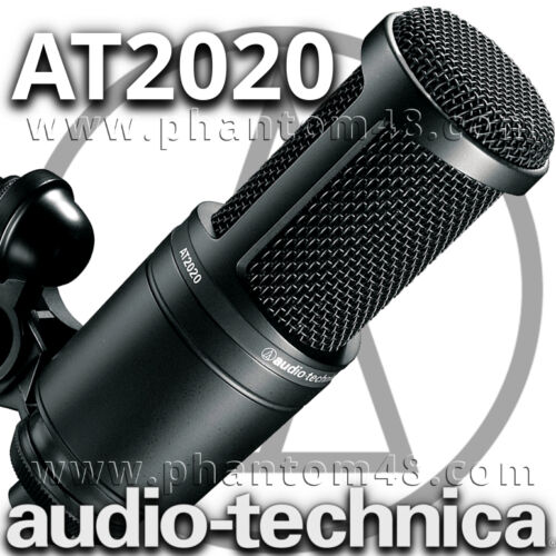 Audio-Technica AT2020 AT-2020 Studio Recording Cardioid Condenser Microphone Mic in Musical Instruments & Gear, Pro Audio Equipment, Microphones | eBay