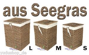 aufbewahrung korb w schekorb mit deckel bezug seegras 4. Black Bedroom Furniture Sets. Home Design Ideas