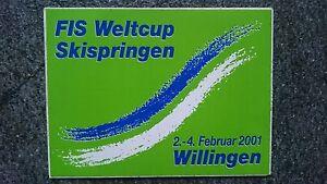 Aufkleber-FIS-Weltcup-Skispringen-Willingen-2001