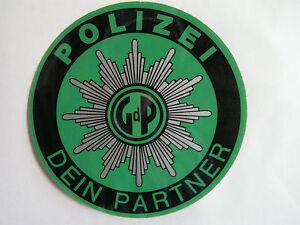 Aufkleber-Hinterglas-Polizei-Dein-Partner-derriere-verre-autocollants-weltweit