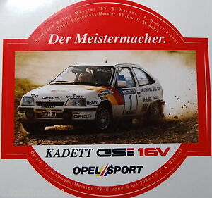 aufkleber opel sport kadett gsi 16v rallye dm haider 1989. Black Bedroom Furniture Sets. Home Design Ideas