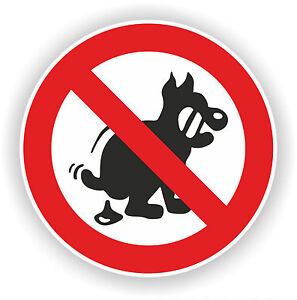 Aufkleber-Schild-Hund-verboten-Hundehaufen-5-20-cm-keine-Hunde-Hundekot