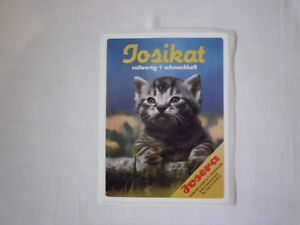 Aufkleber-Sticker-Katze-Futter-JOSIKAT-Werbung-90er-Jahre-NEU