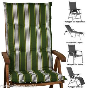 auflagen f r hochlehner niederlehner sessel relaxsessel liegen und sitzkissen ebay. Black Bedroom Furniture Sets. Home Design Ideas