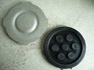 Auflageteller-Auflageplatte-Vollgummiteller-Aufnahmeplatte-Pad-MWH-Consul-137mm