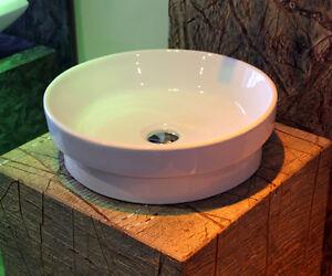 aufsatzwaschbecken ewk 1047b aufsatzwaschtisch einbauwaschbecken rund ebay. Black Bedroom Furniture Sets. Home Design Ideas