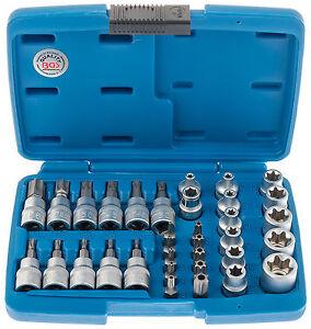 Aussen-Torx-Nuesse-34-tlg-Innentorx-Nuss-Steckschluessel-Satz-Bits-BGS-Werkzeug-Set