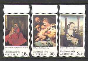Australia-1978-Christmas-Art-Paintings-3v-set-n20330