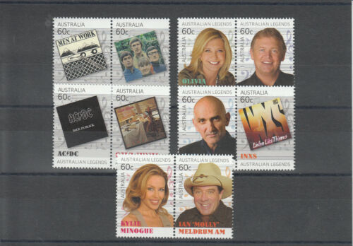 Australia 2013 MNH Legends of Music 10v Set Kylie Minogue AC/DC INXS Cold Chisel in Stamps, Australia, Other | eBay