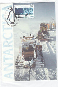 Australien-1215-MAXI-CARD-ANTARKTIS-ANTARCTIC-MACQUARIE-PINGUIN-AUSTRALIA-1989