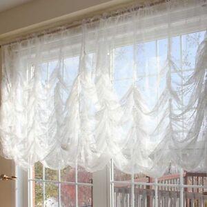 Details About Austrian Festoon Brail Roman Balloon Lace Curtain Blind