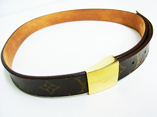 "Authentic Louis Vuitton Monogram sun Tulle Belt 28.5-33"" LV 0205 in Clothing, Shoes & Accessories, Men's Accessories, Belts 
