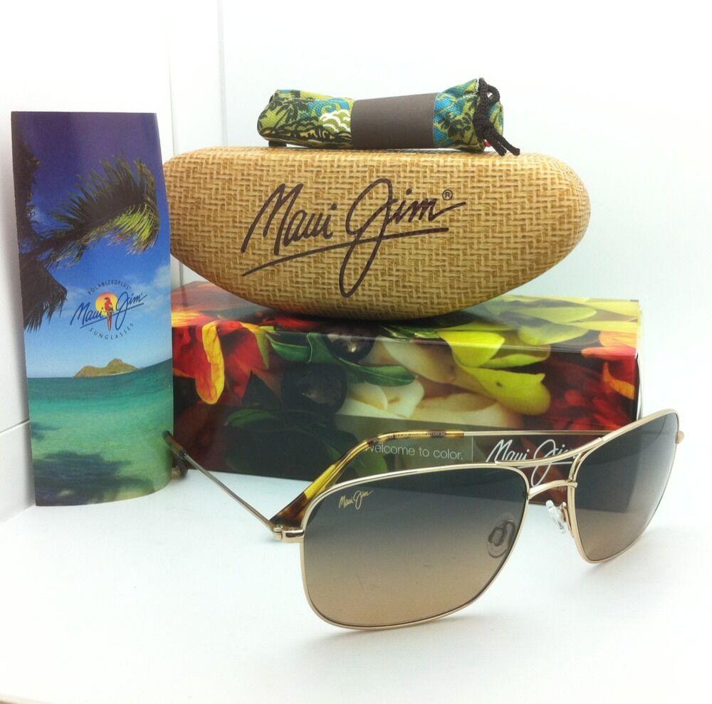 Authentic Maui Jim Sunglasses Titanium Wiki Wiki MJ 246 16 59 17 Gold