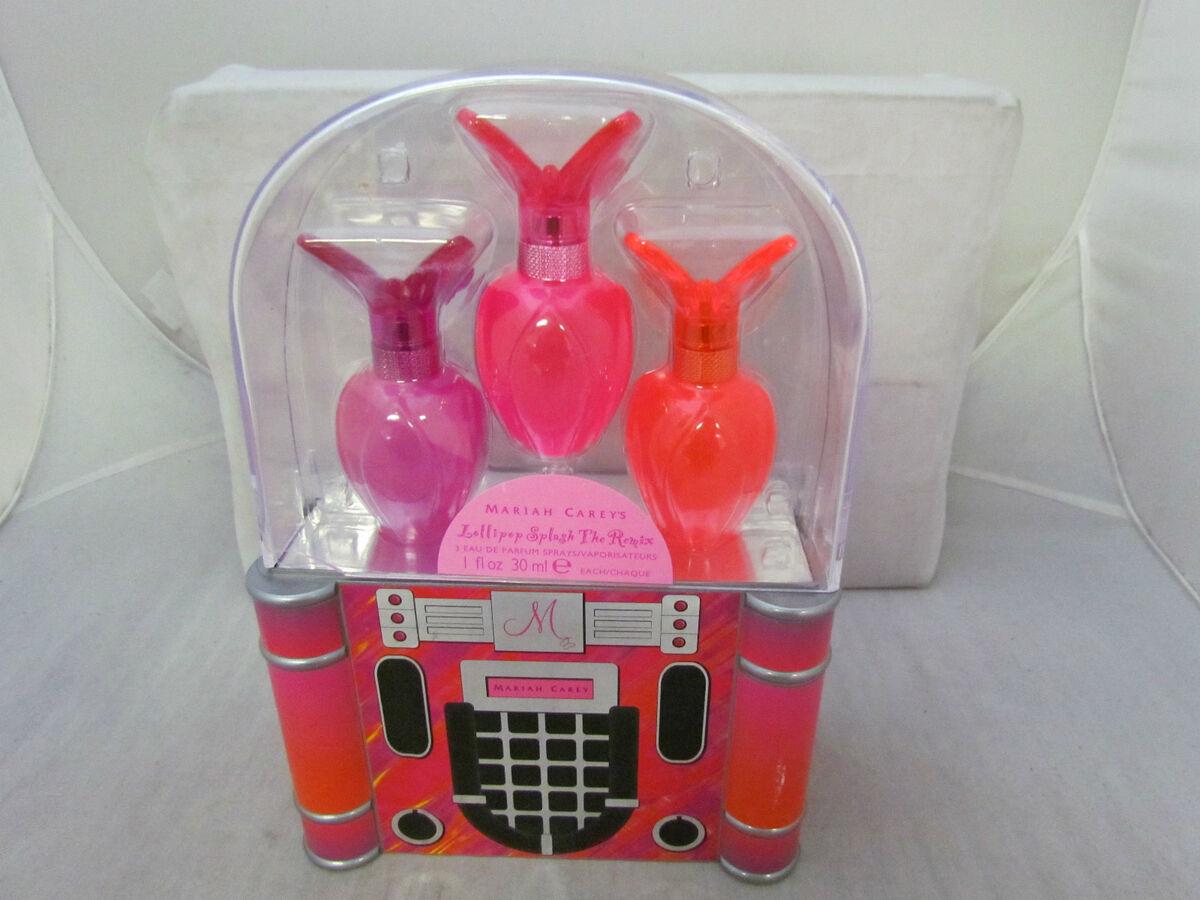 Authentic Mariah Carey Lollipop Splash The Remix Fragrance Set 75 Lolipop Bling Ribbon 100ml