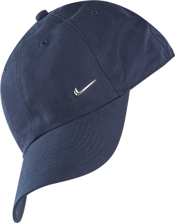 authentic nike navy blue cap unisex metal swoosh. Black Bedroom Furniture Sets. Home Design Ideas