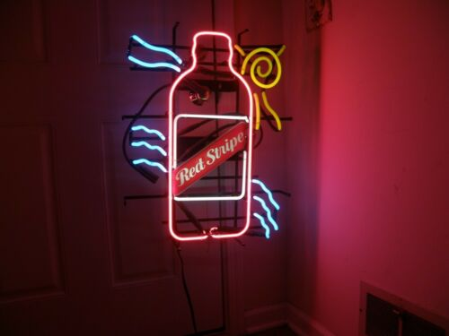 "Authentic RED STRIPE Beer Bottle Neon Sign Original ""Beach Wave"" design in Collectibles, Breweriana, Beer, Signs, Tins 