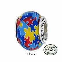 autism awareness bead charm for add a bead bracelets clay