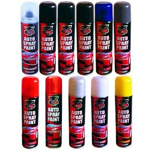Auto Car Lacquer Gloss Matt Primer Spray Paint Aerosol Black Red White Clear Etc Ebay