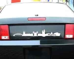 Autoaufkleber-Magdeburg-Skyline-Aufkleber-25-Farben-9-Groessen-Autosticker-Sticker
