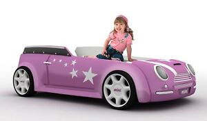 autobett ladycar pink led car bett rennwagen v8 f r. Black Bedroom Furniture Sets. Home Design Ideas