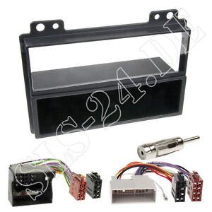 Autoradio-Einbaurahmen-Radioblende-ISO-Adapterkabel-Einbauset-Ford-Fiesta-Fusion