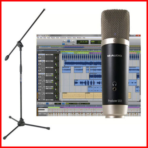 Avid Vocal Studio - M-Audio Producer USB Recording Mic + Pro Tools SE w/ Stand in Musical Instruments & Gear, Pro Audio Equipment, Microphones | eBay