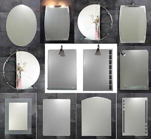 b ware badspiegel spiegel mit ohne ablage beleuchtung. Black Bedroom Furniture Sets. Home Design Ideas