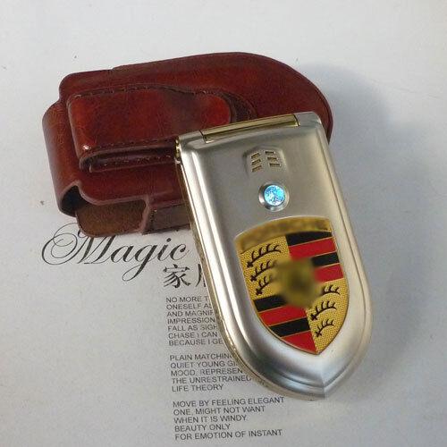B777 Unlocked Super Sports Car Cell Phone Dual Sim Card Quad Band Phone Holster