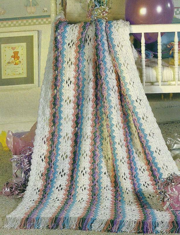 Crochet Patterns For Afghan : AFGHAN BABY CROCHET PATTERN RAINBOW ? Patterns