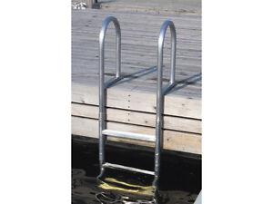 badeleiter 5 stufen stegleiter boot leiter aluminium h ndler badeplattform neu ebay. Black Bedroom Furniture Sets. Home Design Ideas