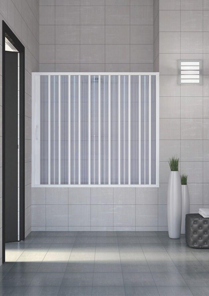 badewannen duschwand faltwand f r nische badewannenaufsatz duschtrennwand ebay. Black Bedroom Furniture Sets. Home Design Ideas