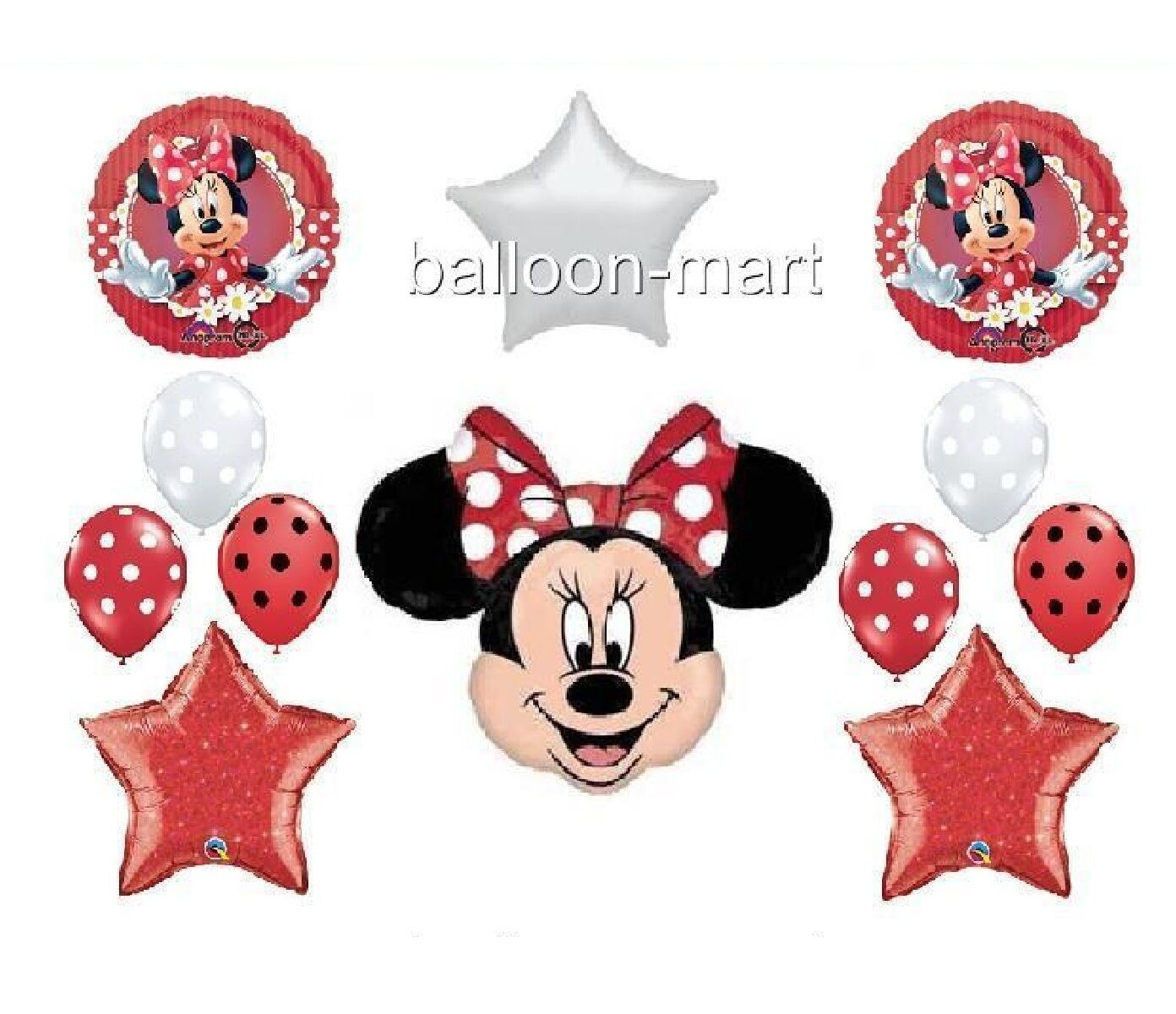 Minnie mouse red polka dot party supplies car interior for Red and white polka dot decorations