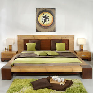 bambusbett 200x200 tawau doppelbett bettgestell futonbett bettrahmen holz massiv ebay. Black Bedroom Furniture Sets. Home Design Ideas