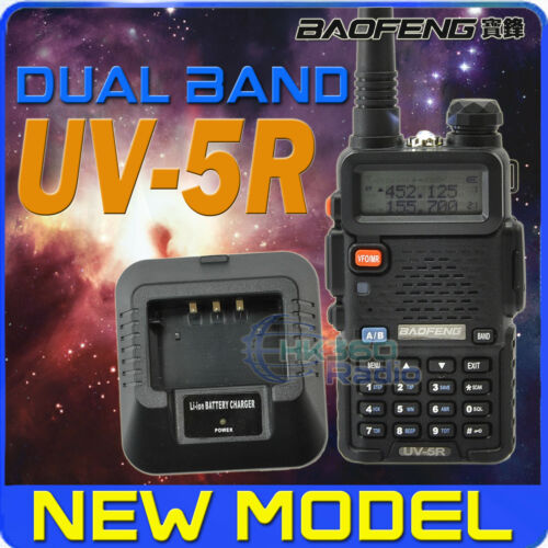 BAOFENG UV-5R 4W136-174/400-480Mhz RADIO WITH Desktop Charger + UV-5R EARPIECE in Consumer Electronics, Radio Communication, Walkie Talkies, Two-Way Radios | eBay