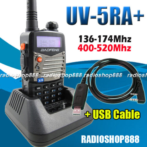 BAOFENG UV-5RA+Plus Dual Band U/V Radio 136-174/400-520Mhz handheld UV5R +6-034 in Consumer Electronics, Radio Communication, Ham, Amateur Radio | eBay