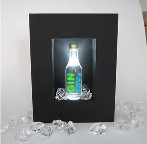 bar wandleuchte mit gin flasche reklame leuchte neon glorifier licht lampe sign ebay. Black Bedroom Furniture Sets. Home Design Ideas