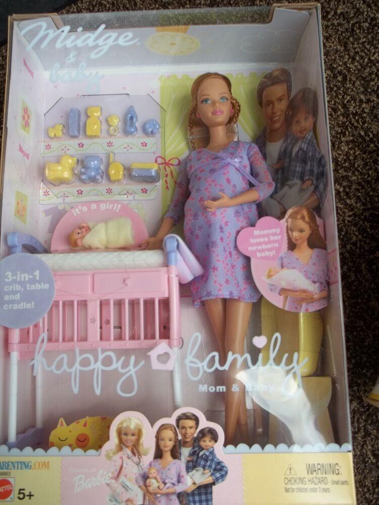 Barbie Midge Baby Happy Family Pregnant RARE NRFB