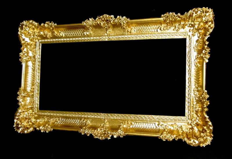 barock spiegel wandspiegel rechteckig antik badspiegel gold antik 96x57 206 1 ebay. Black Bedroom Furniture Sets. Home Design Ideas