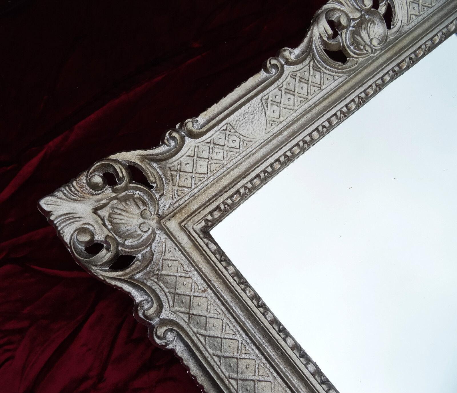Wandspiegel altsilber antik barock rokoko 90x70 wanddeko for Couchtisch 90x70