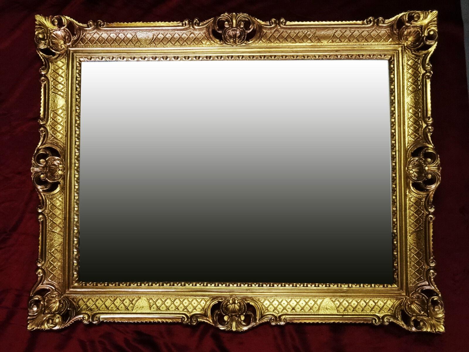 Baroque mirror gold antique rokoko renaissance repro ebay for Rectangular baroque mirror