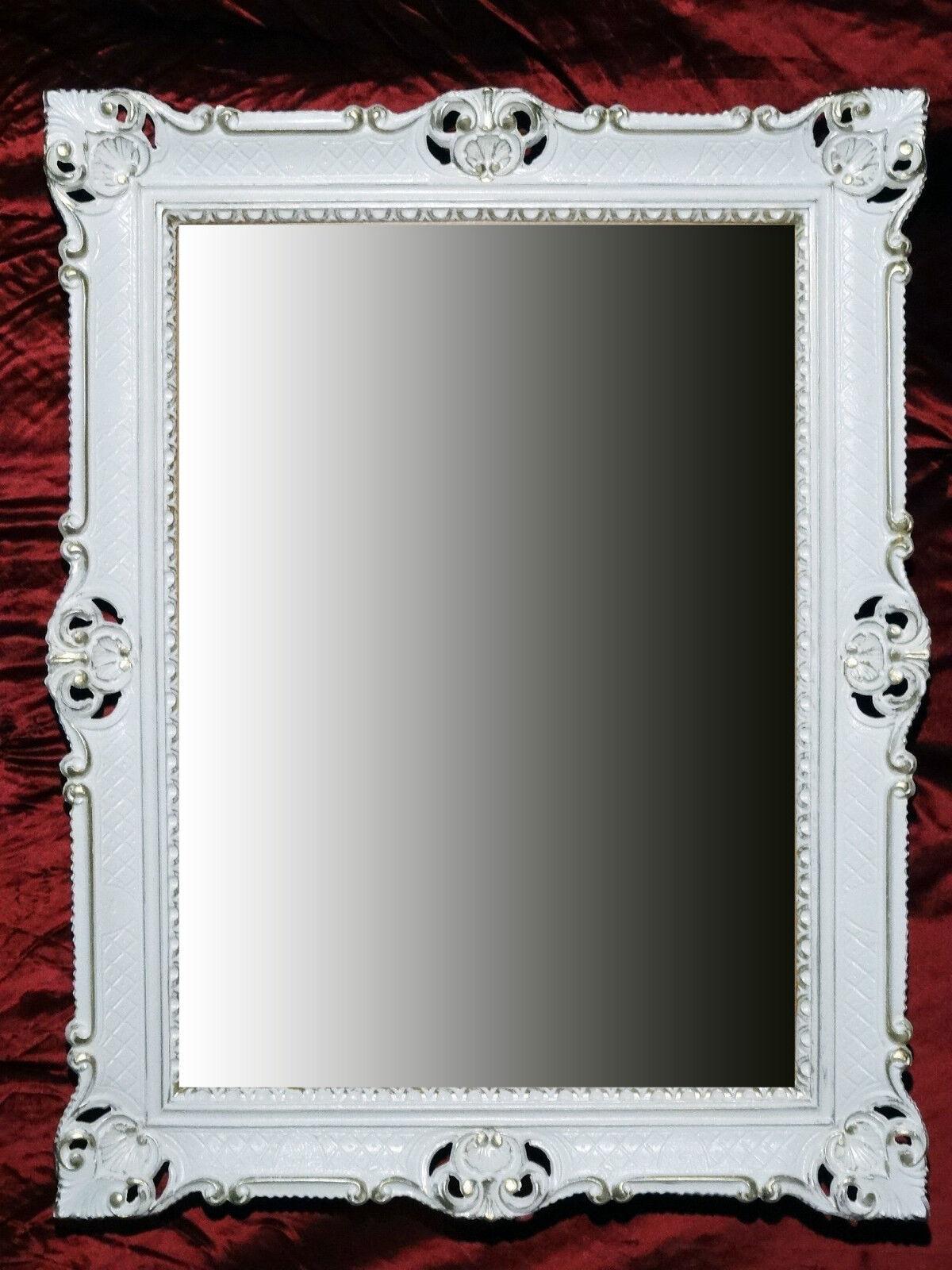 Specchio muro oro bianco shabby chic antica decodificare for Couchtisch 90x70
